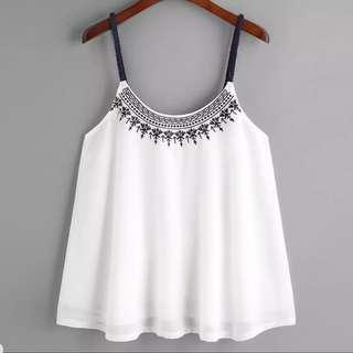 [PO] Boho Embroidered Strap Cami (37)