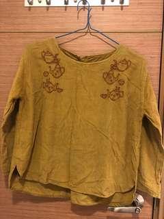 日本牌子kilki介辣黃色衫, 胸大約44吋, 肚大約48吋, 衫長大約22-23吋, 質地:100%綿, 印度制, 只著過一次