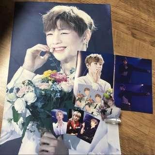 LF / WTB Wanna One Kang Daniel Big Slogan / Binder / Acrylic Standee / PVC Card