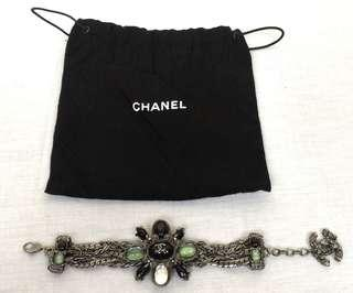 100% Authentic CHANEL Ruthenium Bracelet With Decor