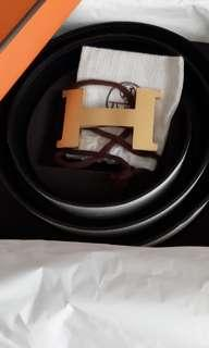 Hermes white belt 100cm with 42mm buckle