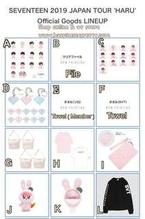 Svt japan tour < Haru > Goods 預訂