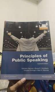 🚚 Principles of public speaking (18th edition