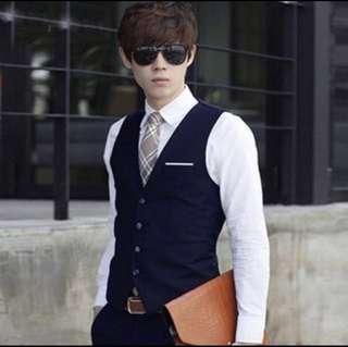 🚚 INSTOCK black blue brothers wedding vest
