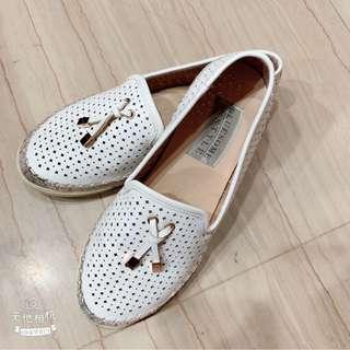 🚚 正韓懶人鞋 23 小白鞋 流蘇鞋