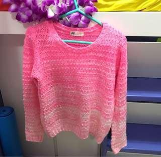 H&M 粉紅色冷衫 Pink Sweater