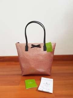 🚚 Kate Spade Mavis Street Jeralyn Glitter Shoulder Bag Rose Gold