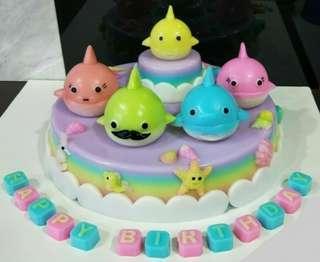 """10"""" Baby Shark Jelly Agar Agar Cake"""