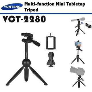 🚚 YUNTENG VCT-2280 Mini Tripod Selfie Stick For Live Streaming Microphone DSLR