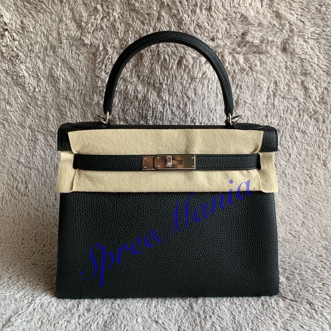 c2cf4451f0c8 💯% Authentic Brand New Hermes Kelly 28 Togo Black PHW