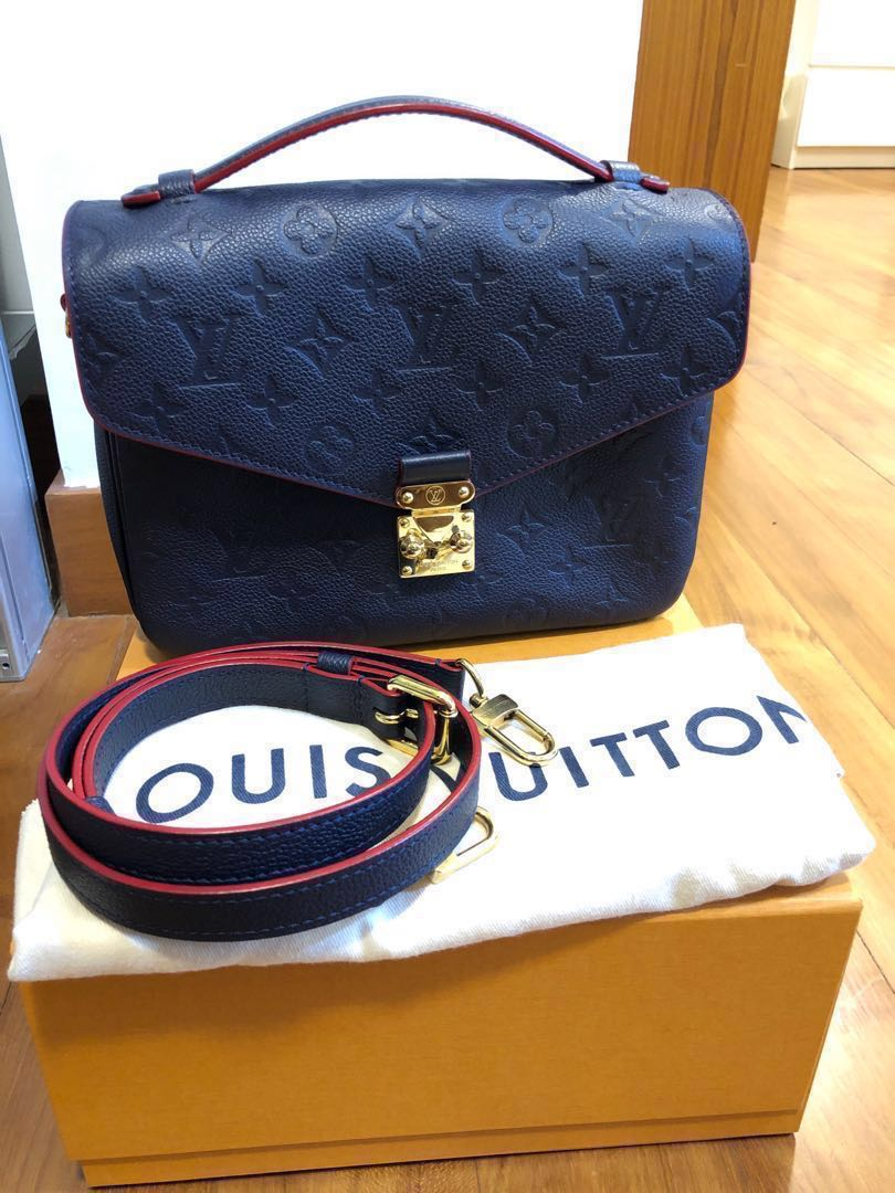 4c408d16a4 LV Pochette Metis Empreinte Navy, Luxury, Bags & Wallets, Sling Bags ...