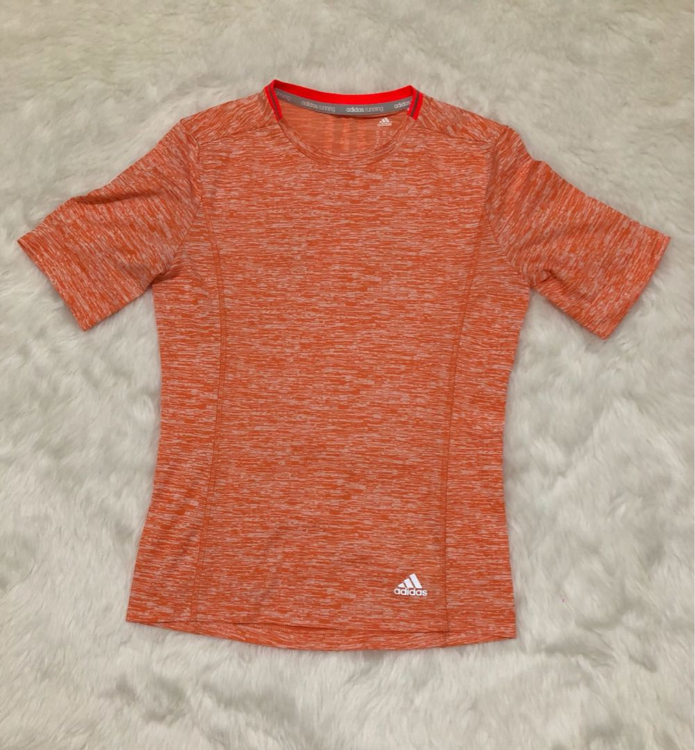 Adidas Fitted Techfit Climalite Men's Short Sleeve Athletic Shirt Euc Activewear Tops Activewear