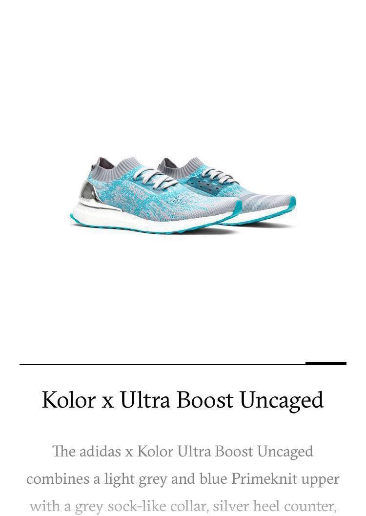 a0b3e992ad924 Adidas Ultra Boost Uncaged Kolor Grey