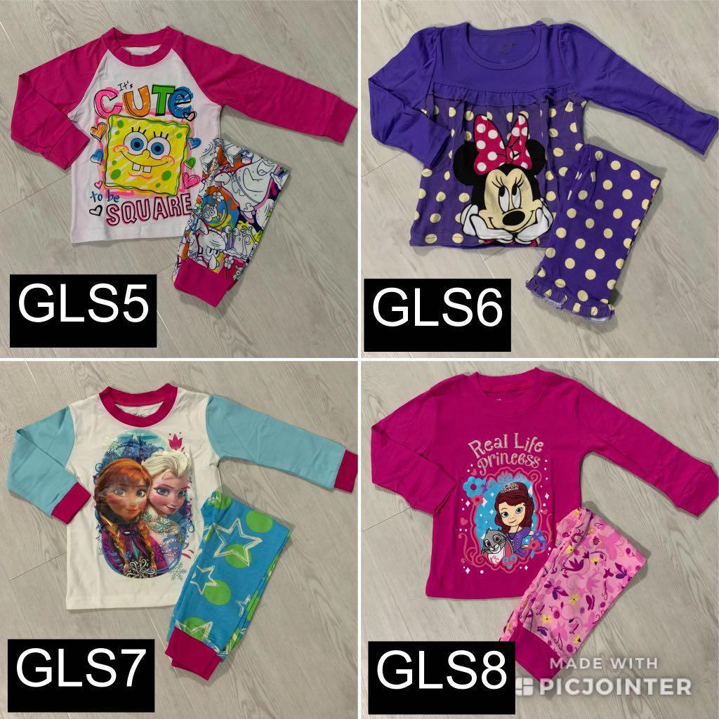 ANY 2 for $10! GIRLS Long/Short Sleeve Pyjamas