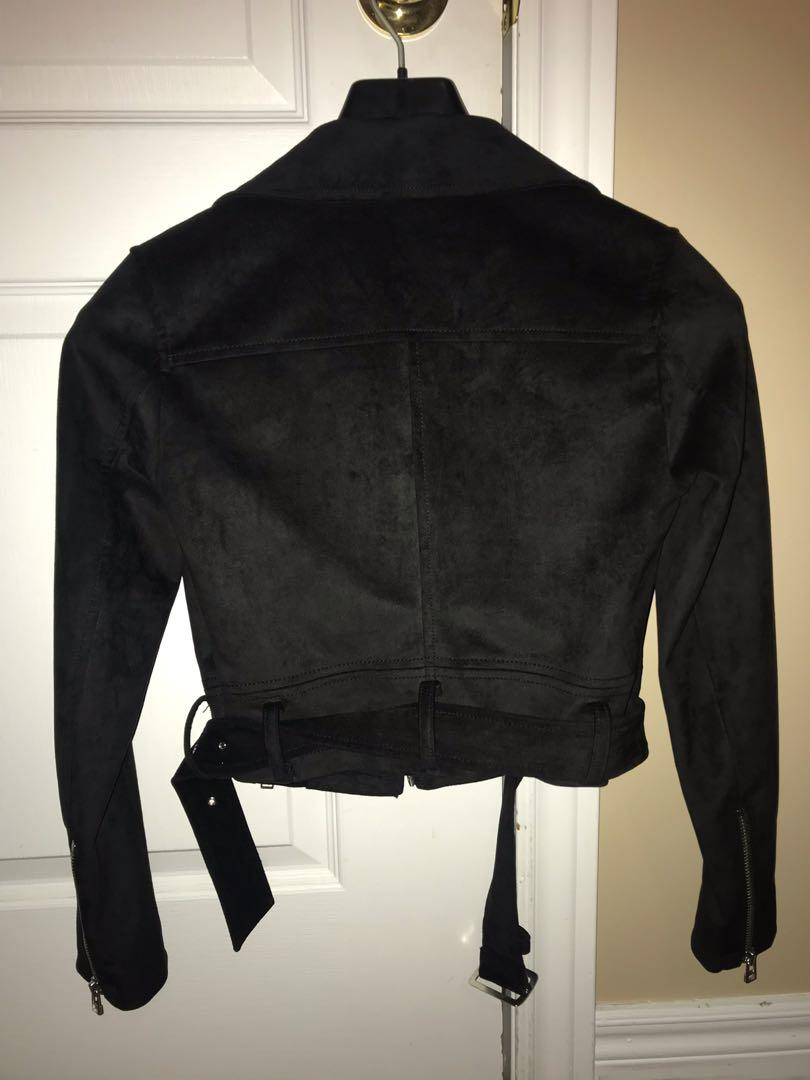Aritzia suede leather jacket