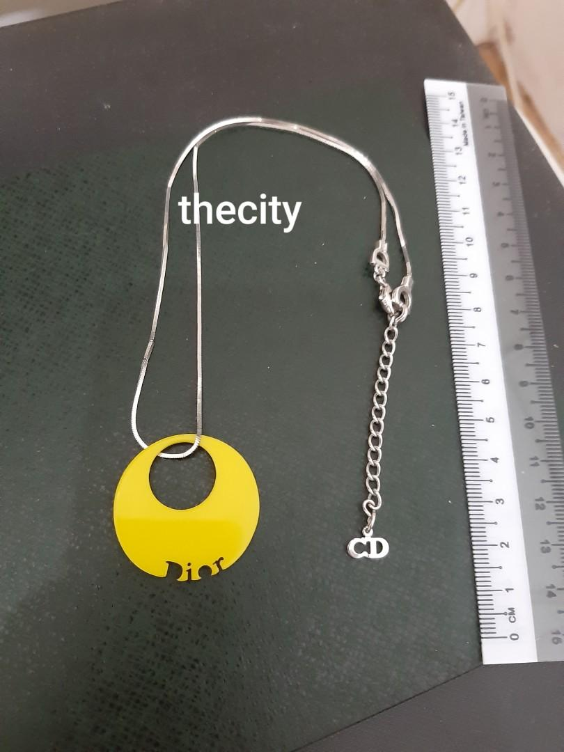 AUTHENTIC DIOR LOGO PENDANT,  SILVER NECKLACE - GOOD CONDITION - ADJUSTABLE LENGTH (FREE SIZE) - (BOUGHT AROUND RM 2000+) - RM 99 ONLY