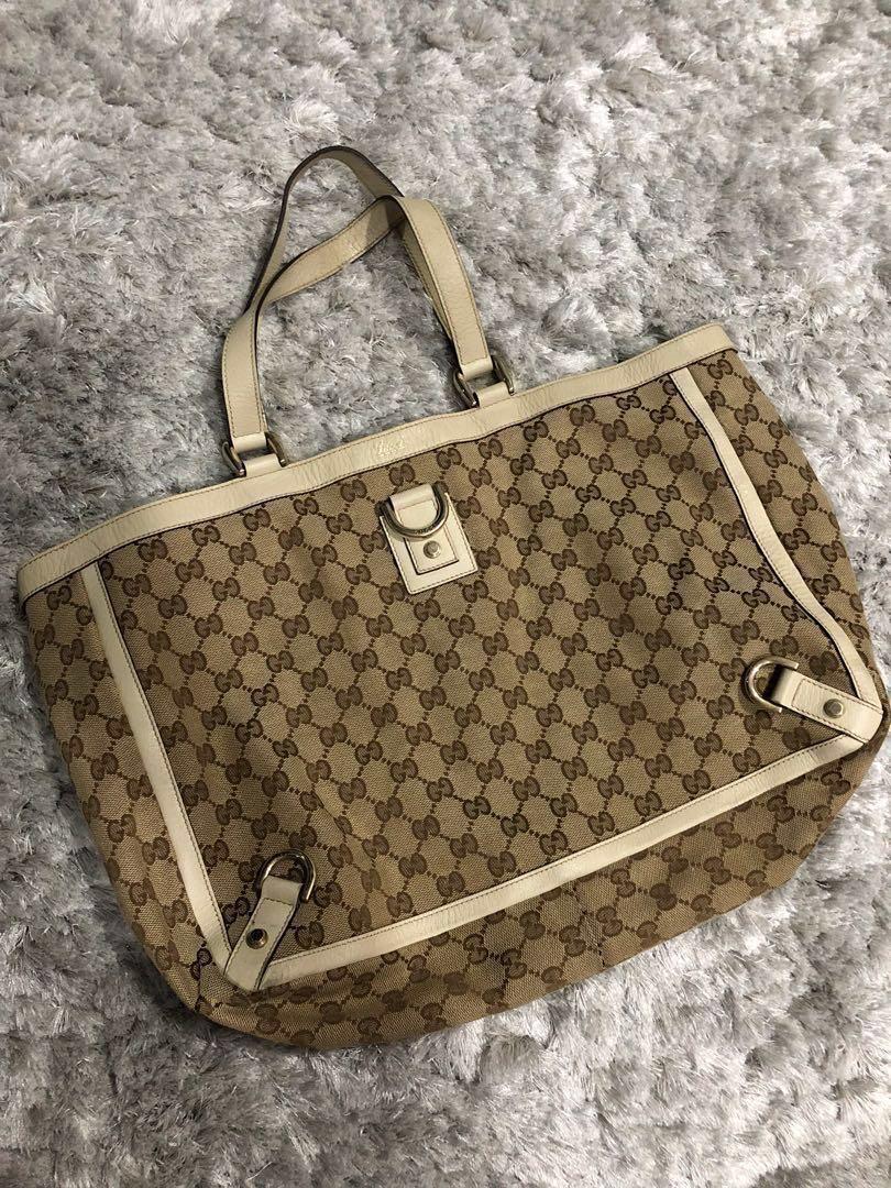 17324ea5576d Authentic Gucci Abbey Monogram canvas tote, Women's Fashion, Bags ...