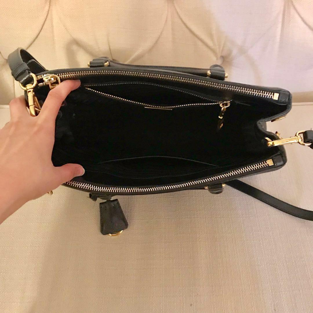 Authentic Prada Saffiano Lux Bag - Nero