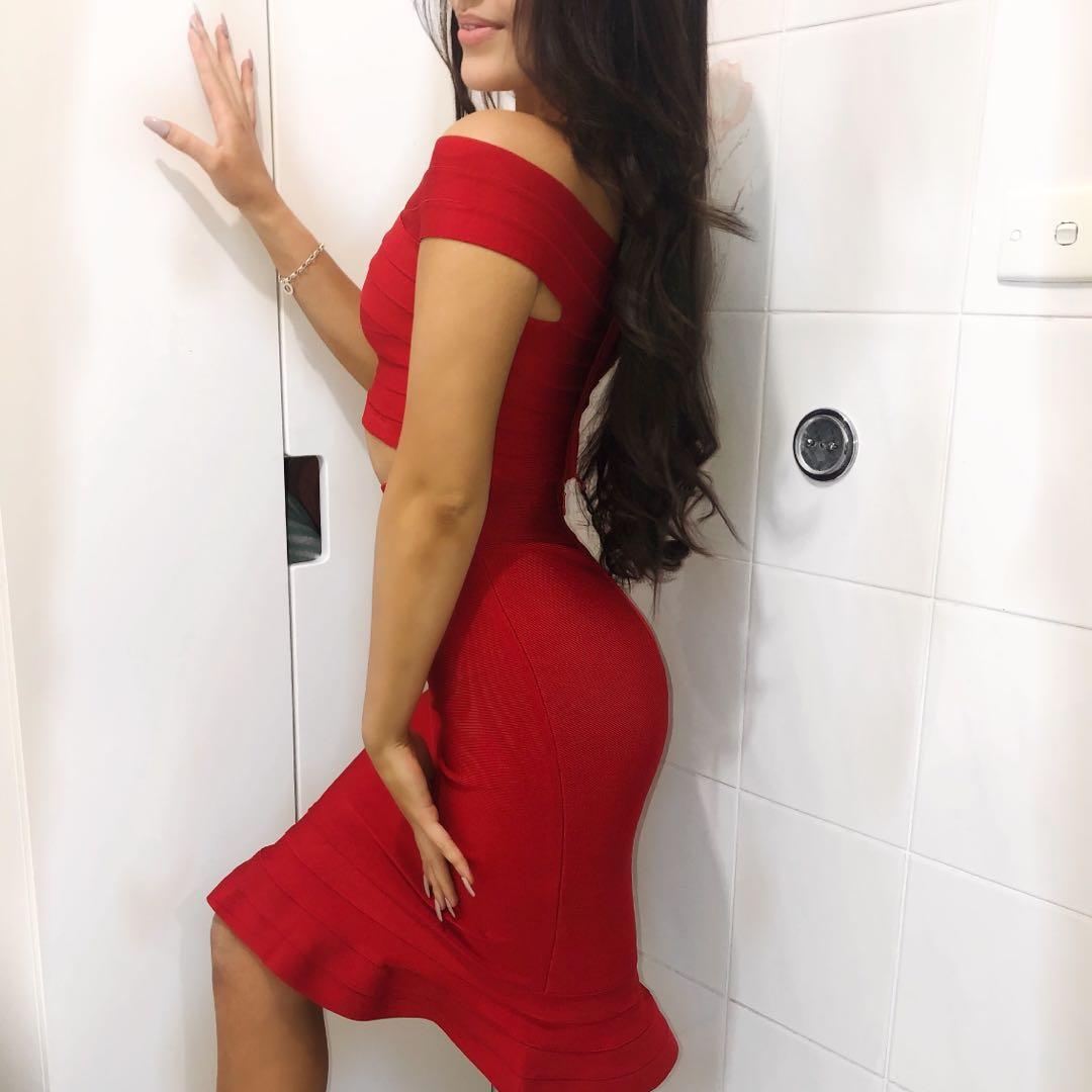 Bandage Dress - Red
