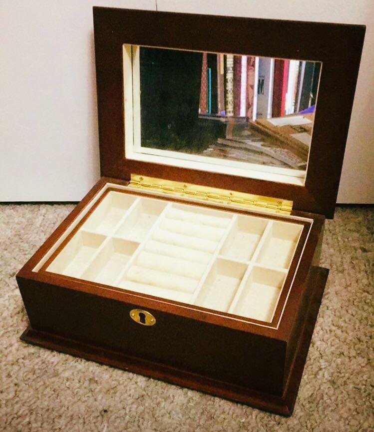 Beautiful wooden jewelry box