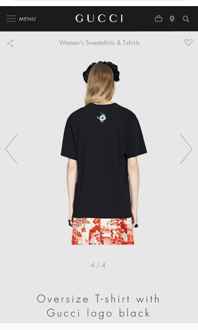 368e7ad9d5a1c Best deal!GUCCI Oversize tshirt with Gucci logo black (XS size ...