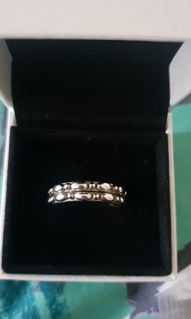 Brand new Pandora rings x 2. 14k gold and Sterling silver