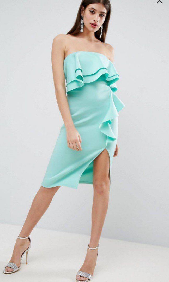 75819d82c0 BRAND NEW  PLUS SIZE  ASOS Ruffled Tube Dress (Scuba Material ...