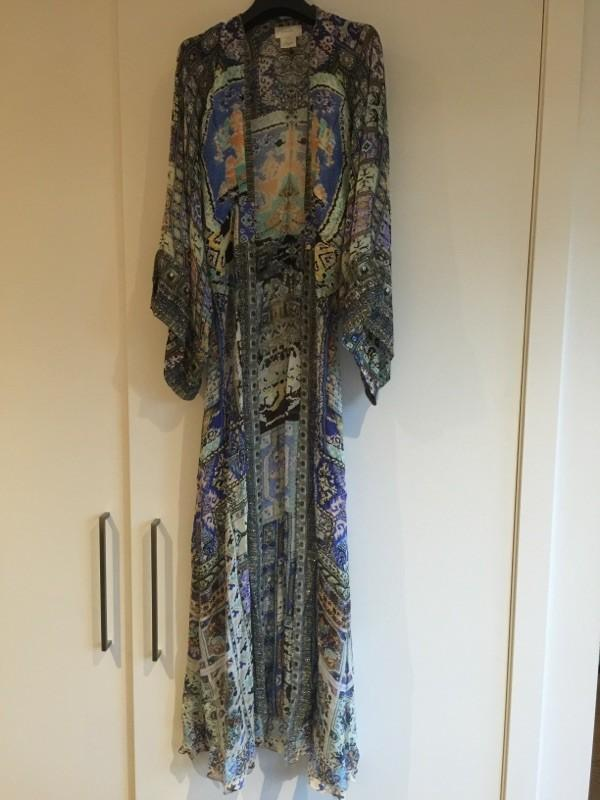 Camilla WEAVE OF HUMANITY dress robe with wide sleeve large size  worm once