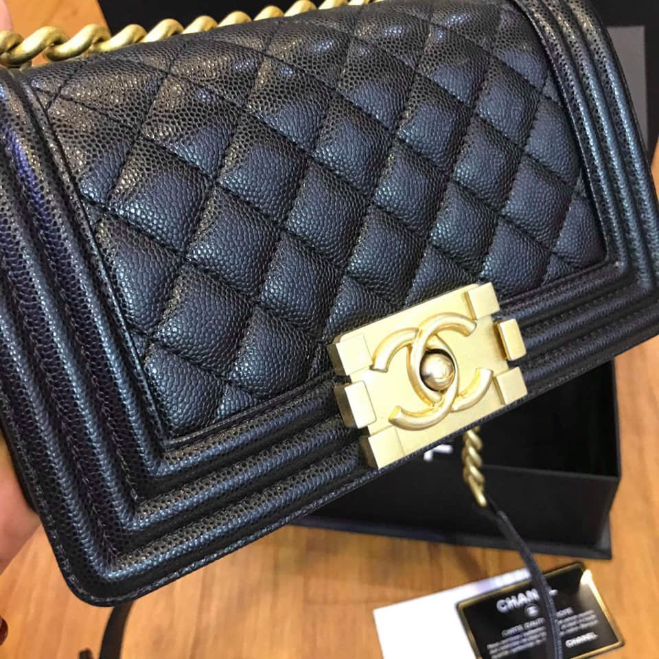 6bf03cb5d149 Chanel Boy caviar Small size, Luxury, Bags & Wallets, Handbags on ...