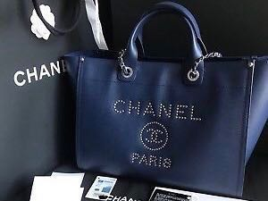 b6f996100880 Chanel Leather Deauville Tote 2018