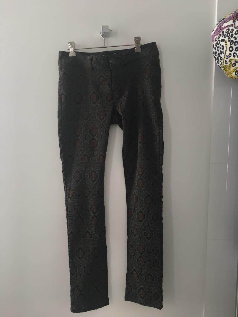 Desigual pattern low rise jeans