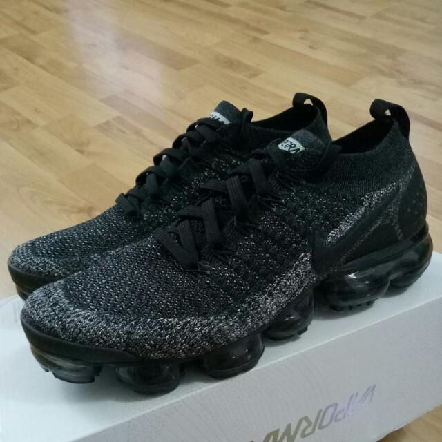 🔥US8.5🔥 Nike Air Vapormax Flyknit 2.0 Black Dark Grey Shoes edb285eed