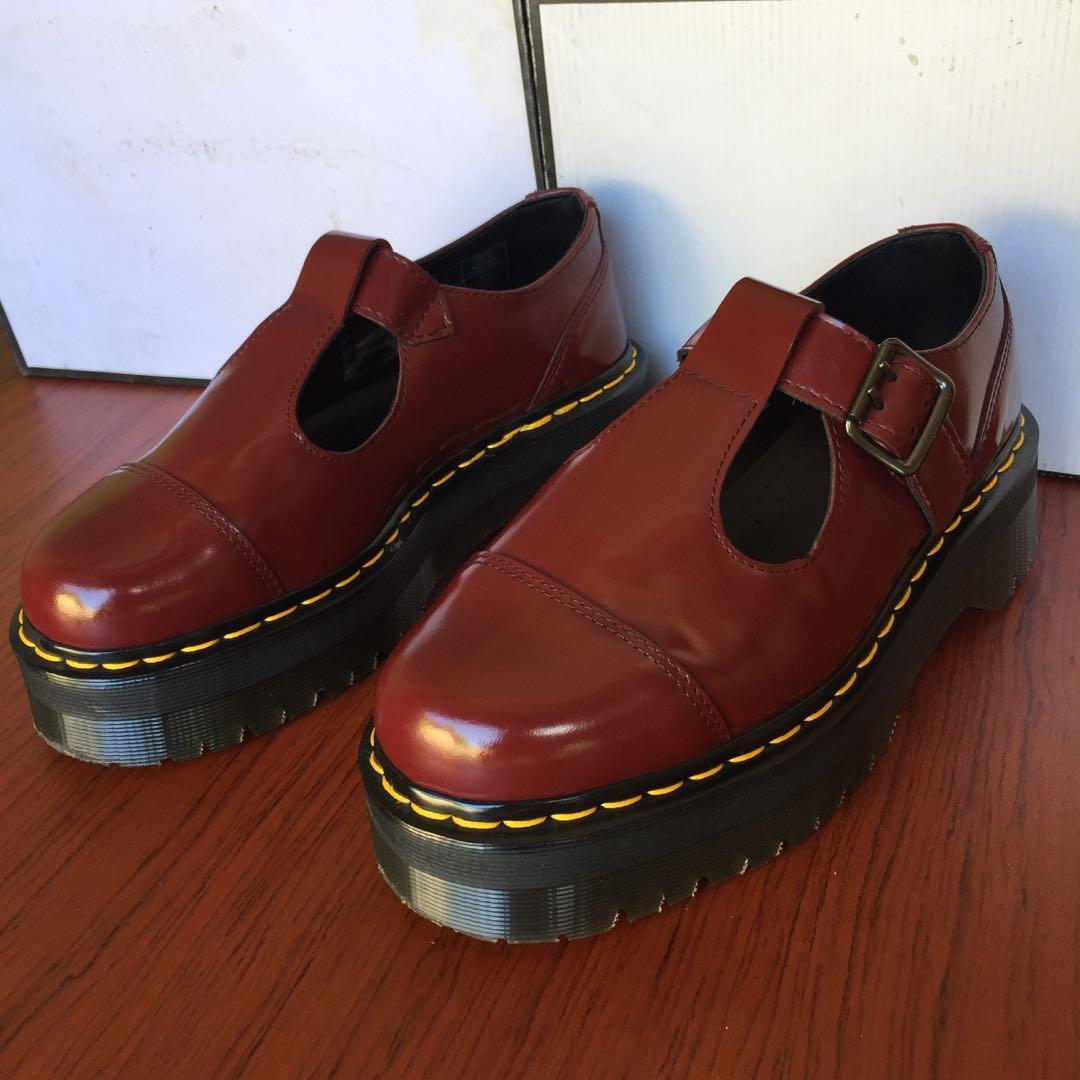 paras arvo Tarjouskoodi aitoja kenkiä Dr Martens Bethan cherry red polished smooth Size us8-39eu ...