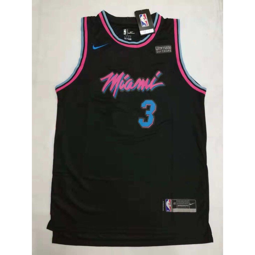 383b341b7f2 Dwayne Wade  3 City Edition Swingman Jersey (Miami Heat) on Carousell