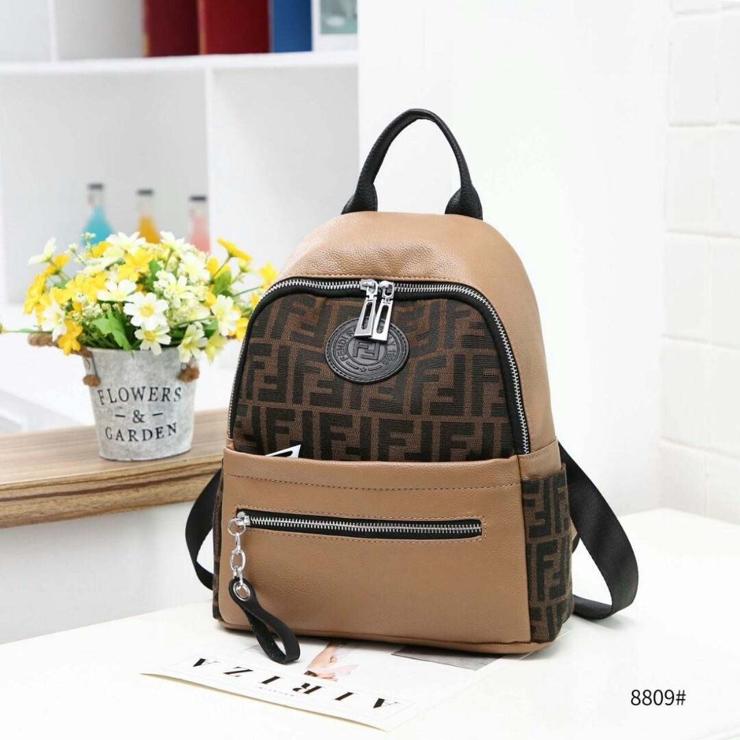 eb903f24d7c5 💝Fendi FF Backpack  8809💝