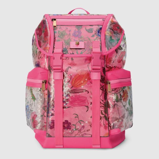 608bfd65ac68 Gucci Floral print vinyl medium backpack, Luxury, Bags & Wallets ...