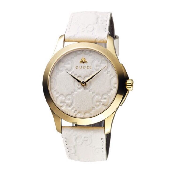 68db176dab93 Gucci G-Timeless Yellow Gold PVD Case   White Dial Watch YA1264033 ...