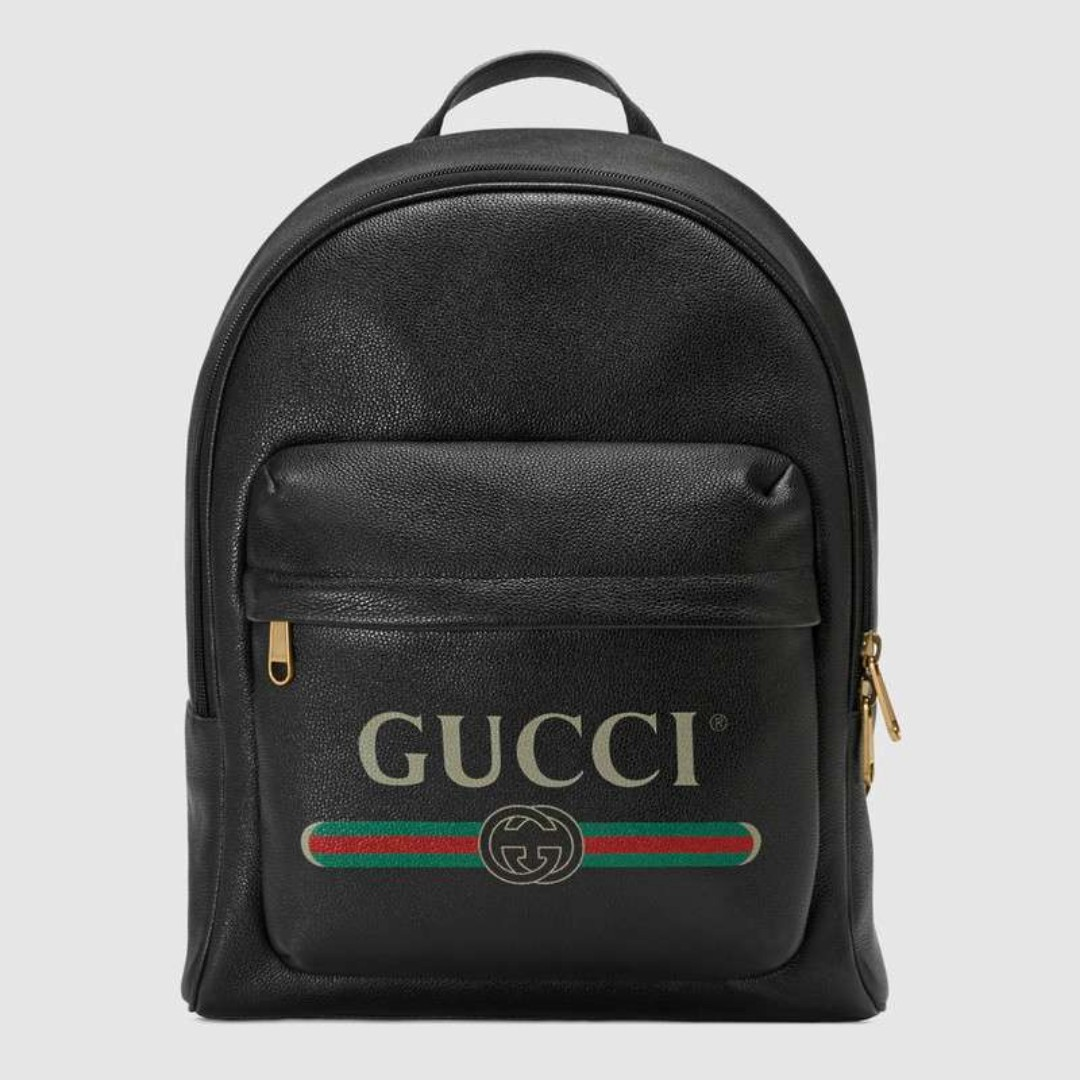 e00c5e21af1375 Gucci Gucci Print leather backpack, Women's Fashion, Bags & Wallets ...