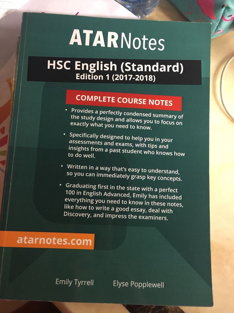 HSC ENGLISH STANDARD: ATAR NOTES, Books & Stationery, Books on Carousell