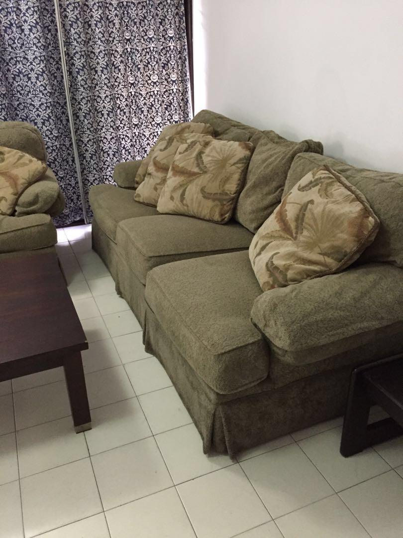 Jumbo 3-Seater+1 Fabric Sofa Set (Urgent Sale) on Carousell