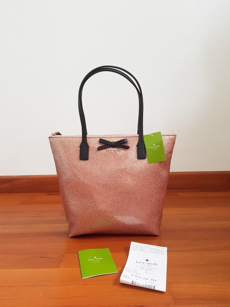 1fb63f38e Kate Spade Mavis Street Jeralyn Glitter Shoulder Bag Rose Gold, Women's  Fashion, Bags & Wallets, Handbags on Carousell
