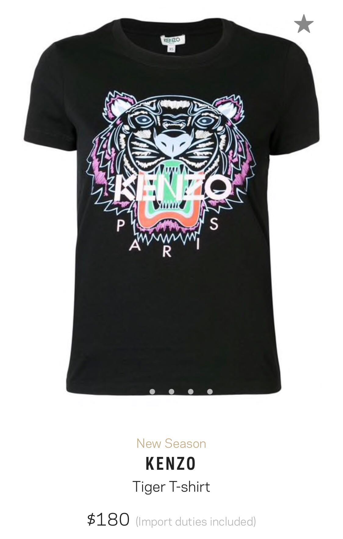 cffc147c151 Kenzo Women Tiger T-shirt, Women's Fashion, Clothes, Tops on Carousell
