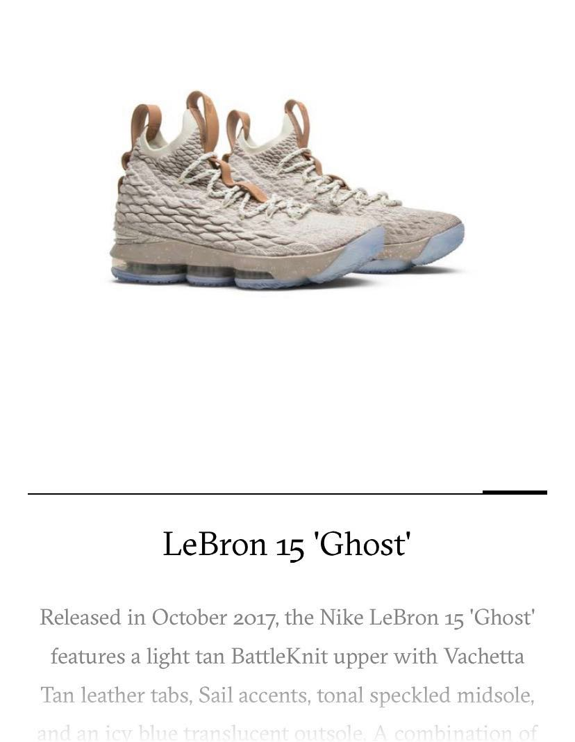 5bcbabad62 LeBron 15 Ghost, Men's Fashion, Footwear, Sneakers on Carousell