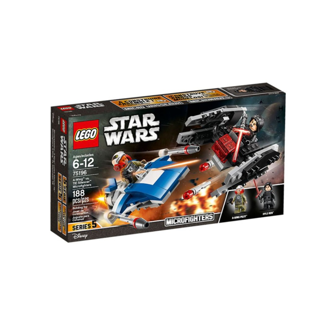 Lego 75196 - A-Wing vs  TIE Silencer Microfighter Retired Set 2018 Brand  New in Box
