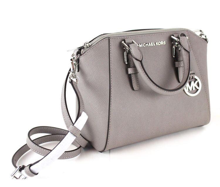 9607dbb92958 [Medium] Michael Kors Small Ciara Satchel Pearl Grey Crossbody Bag, Luxury,  Bags & Wallets, Handbags on Carousell