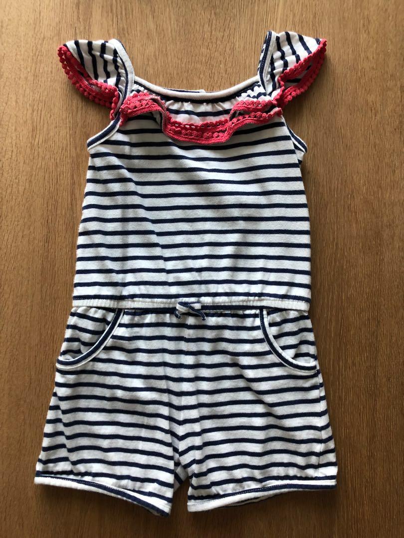 6a4c80d7ae4 Mothercare Stripe   Lace Romper
