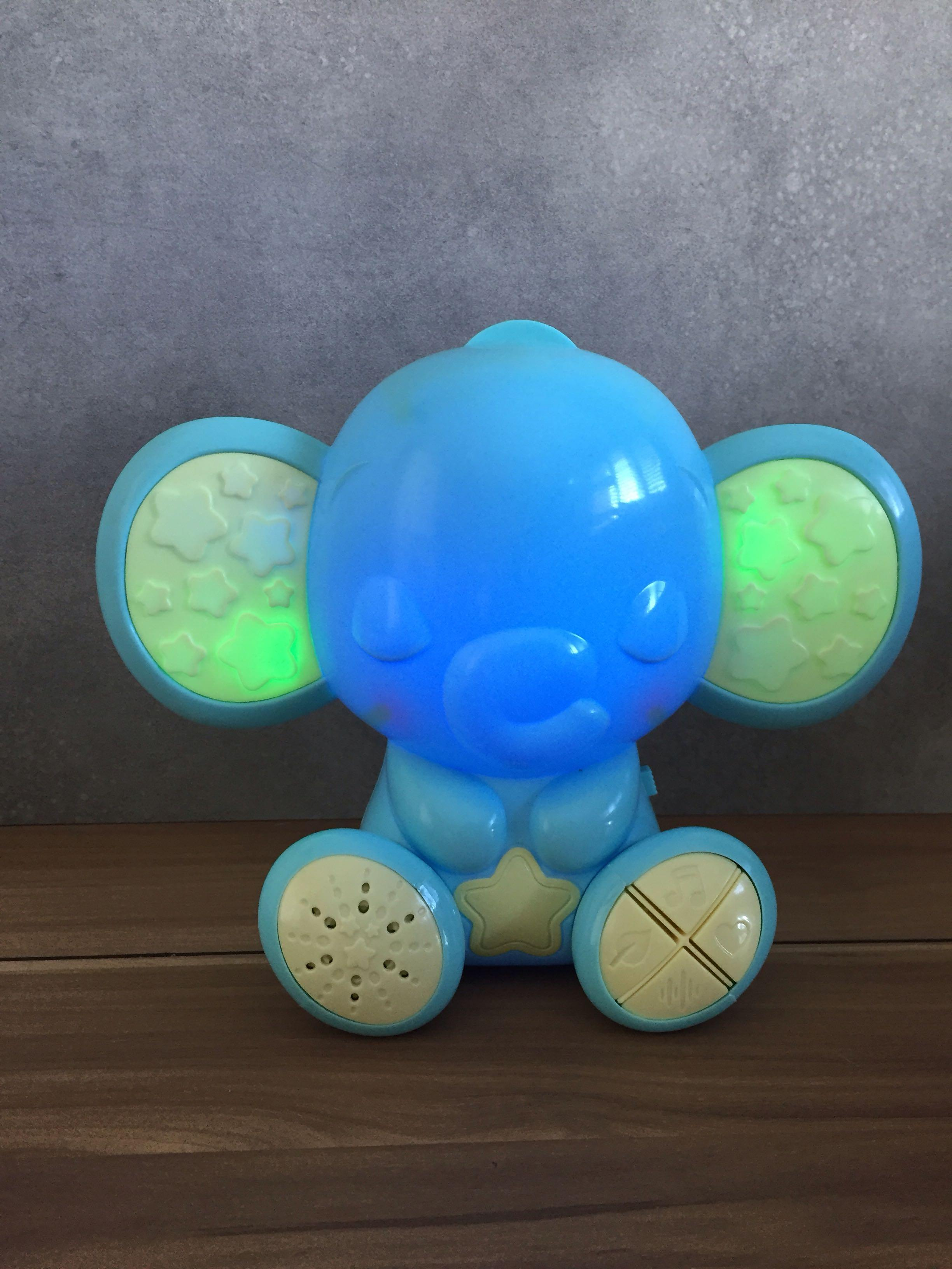 night light baby for children soother elephant toy dimmer