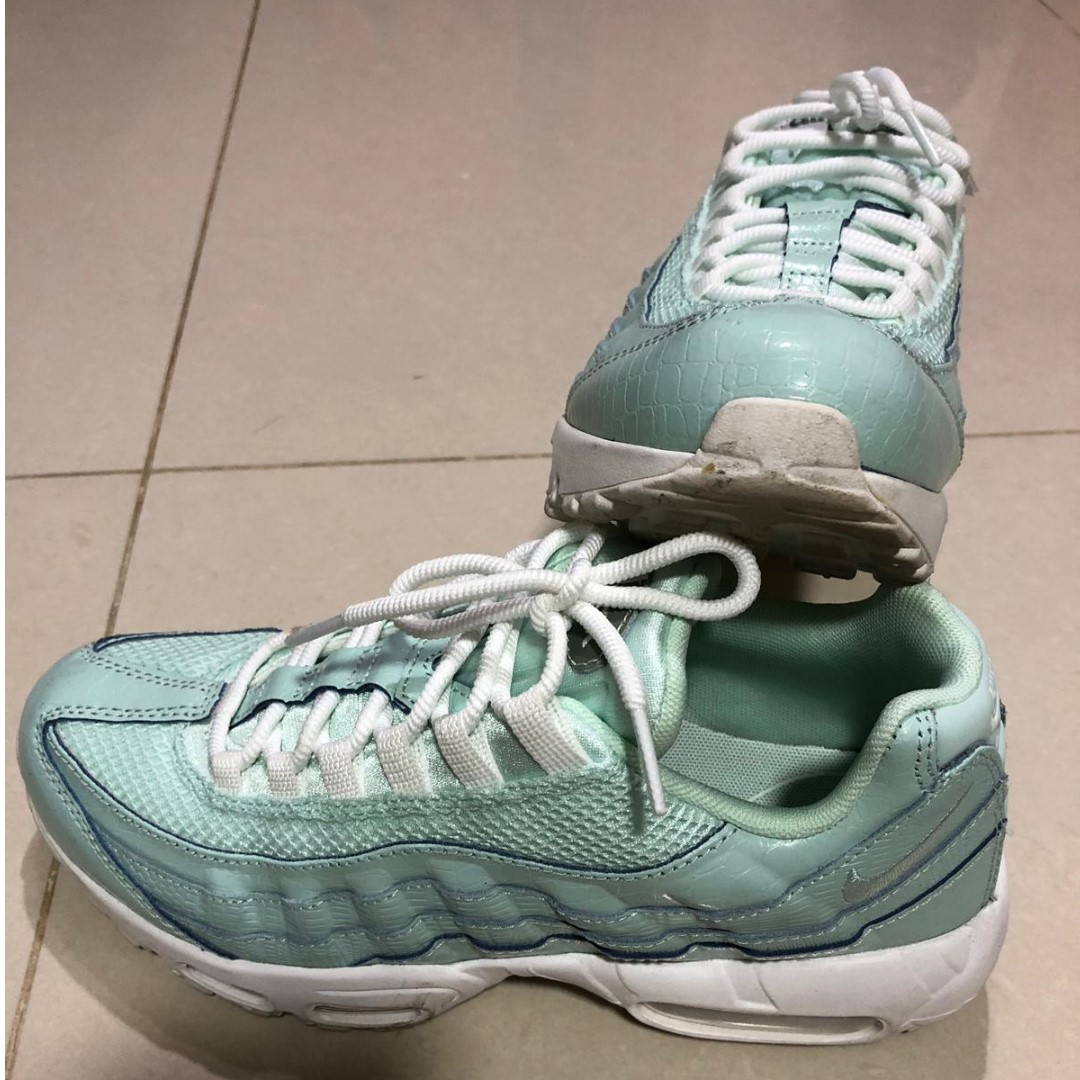 first rate ff827 8b91d Nike Air Max 95 Premium Trainers in Green