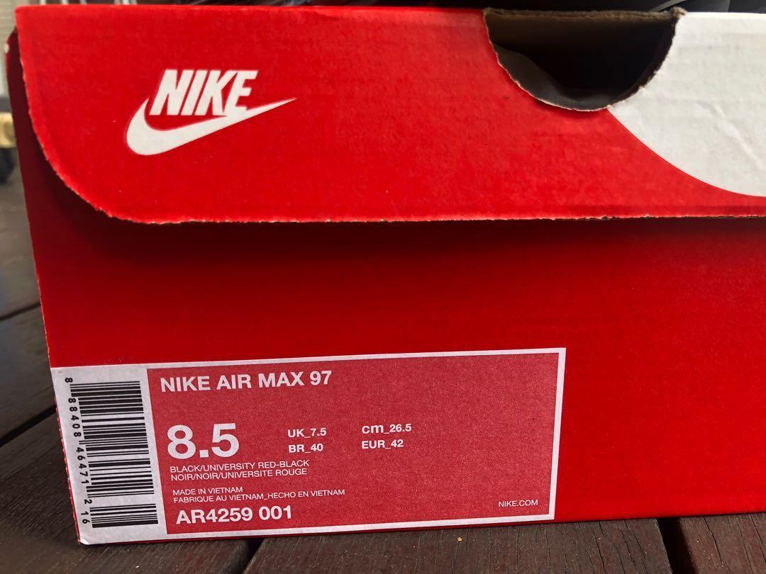 air max 97 black red tick