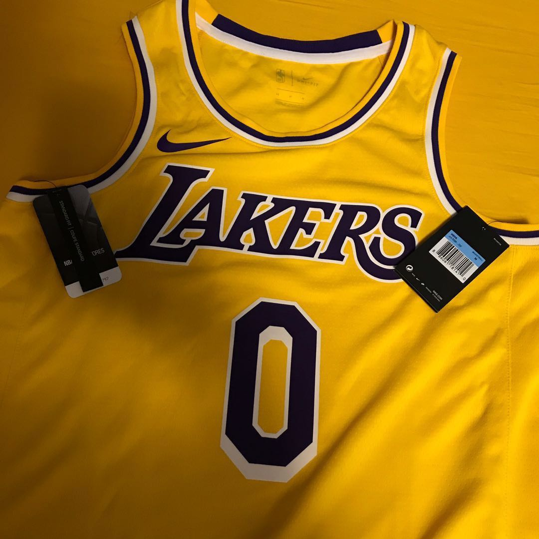 new arrival 32722 4593d NIKE NBA LAKERS KYLE KUZMA JERSEY